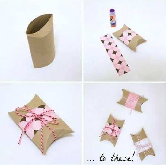 Lembrancinhas com rolos de papel higiênico