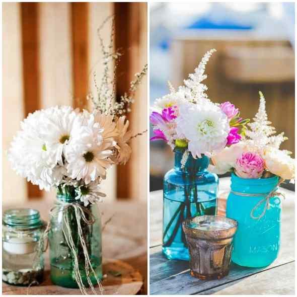 15 inspirações para arranjos de flores com potes de vidro