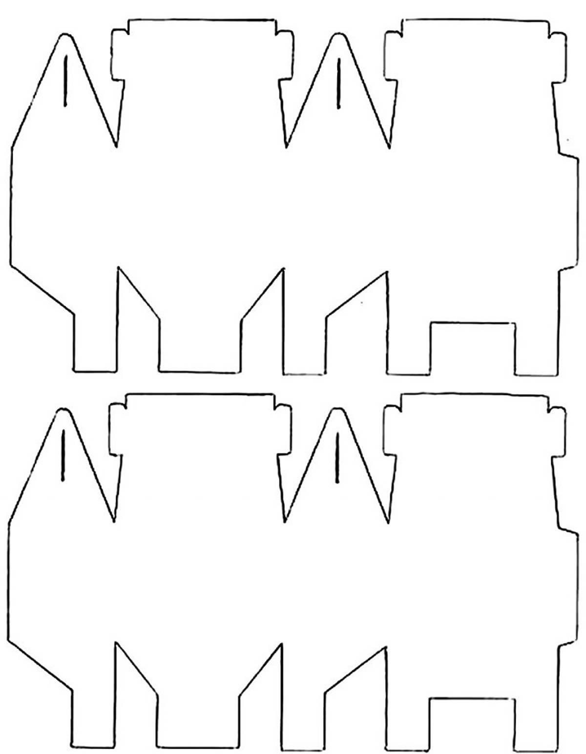 Caixinha de papel com molde