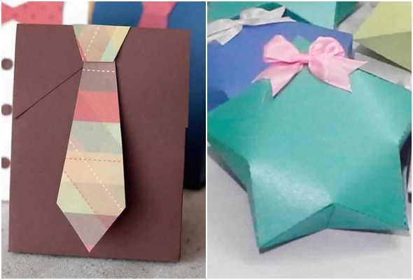 Lembrancinhas de papel com moldes para Dia dos Pais