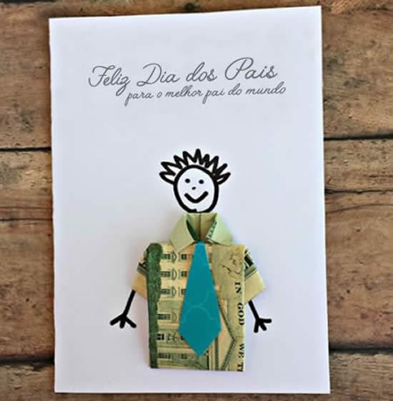 Lindo cartão de papel para Dia dos Pais