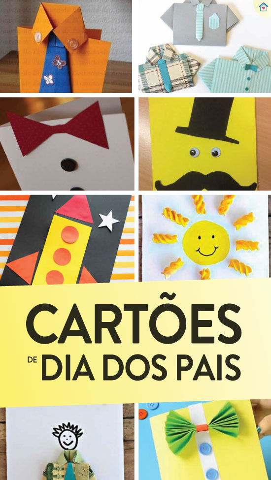 Lindos cartões para o Dia dos Pais
