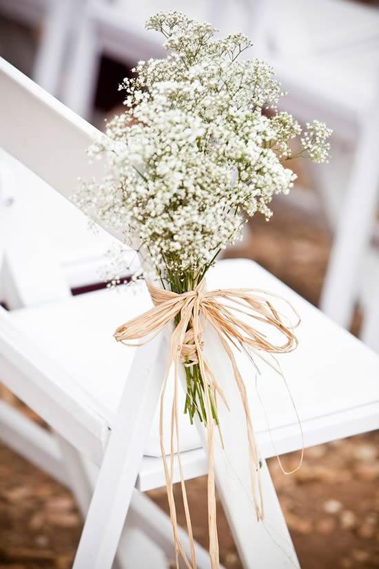 Decoração criativa com flores mosquitinho