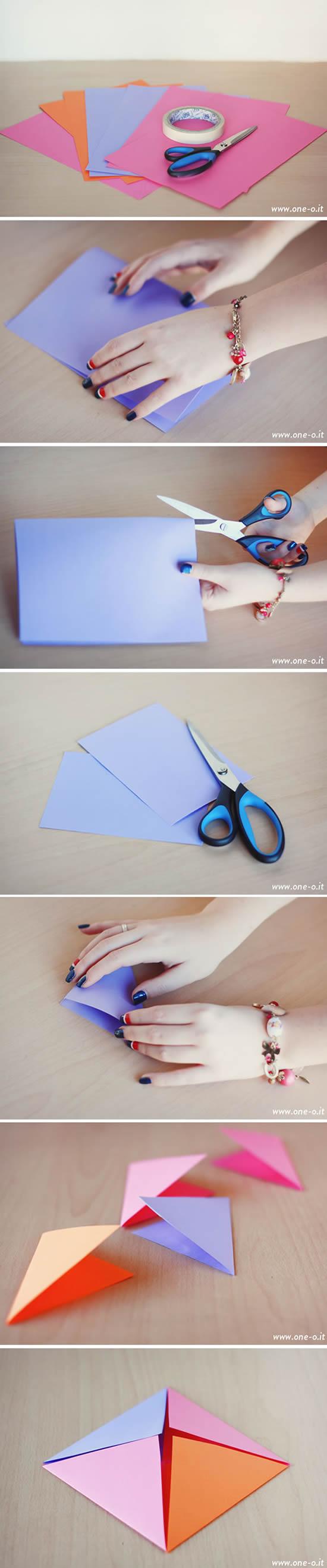 Decoração com papel para festa