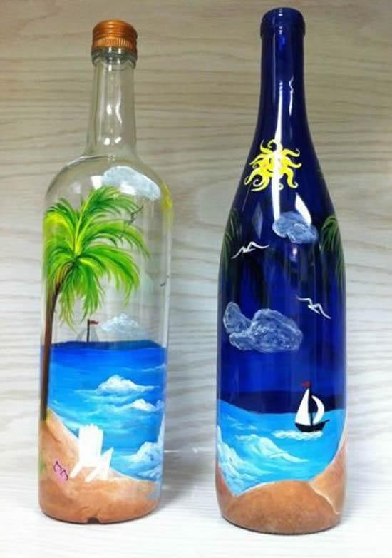 Dica para pintar garrafa de vidro