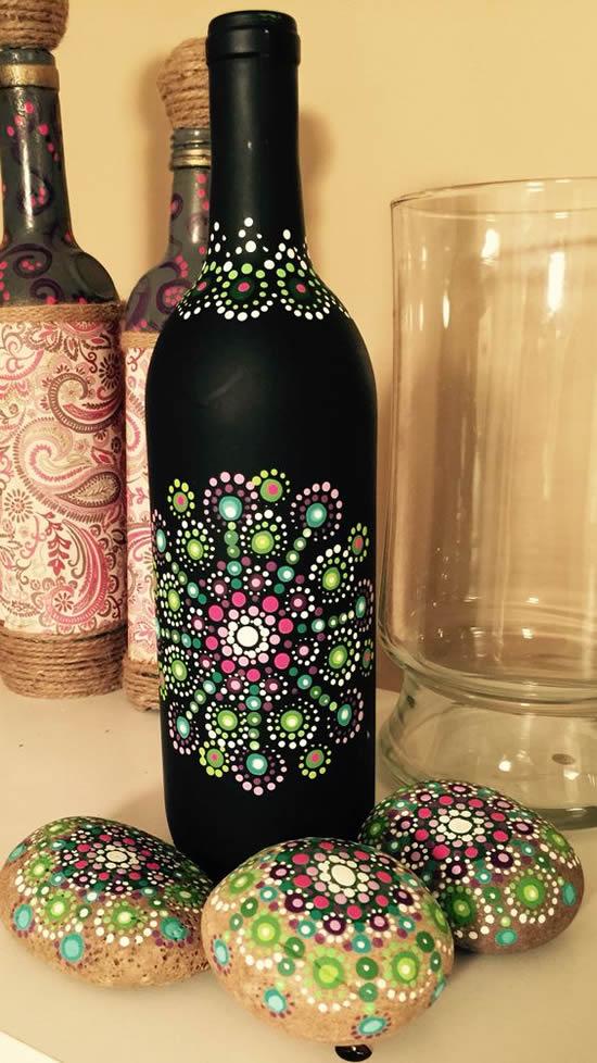 Dicas e ideias para pintar garrafas