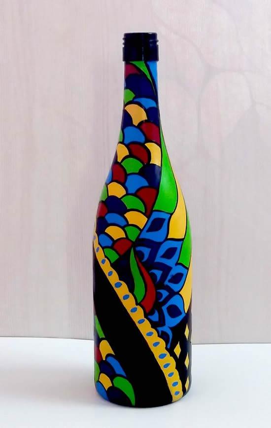 Dicas e ideias para garrafas pintadas