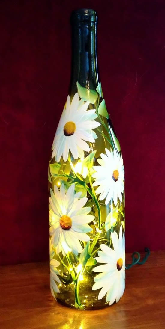 Ideias criativas para pintar garrafas