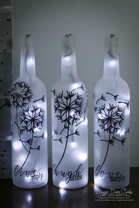 Lindas dicas para pintar garrafas