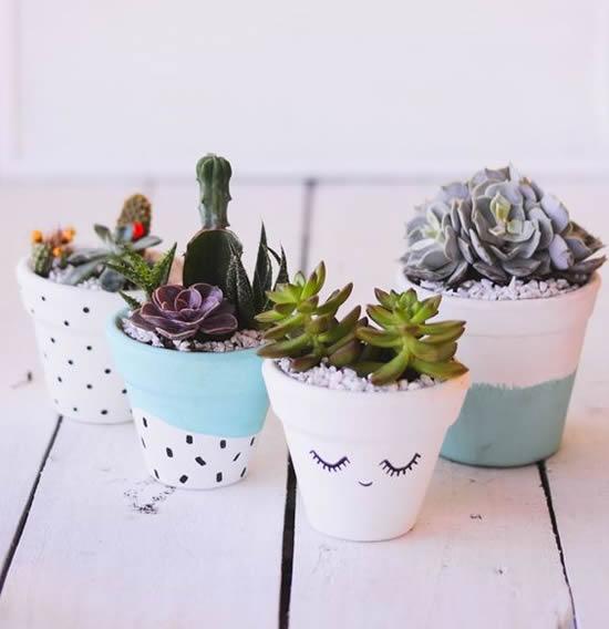 Vasinhos para mini suculentas
