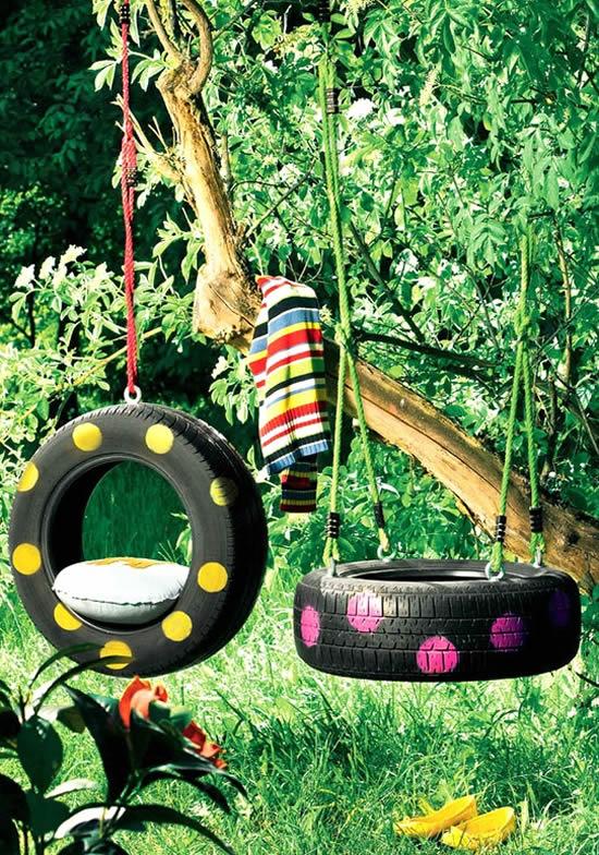 Ideias para reciclar pneus