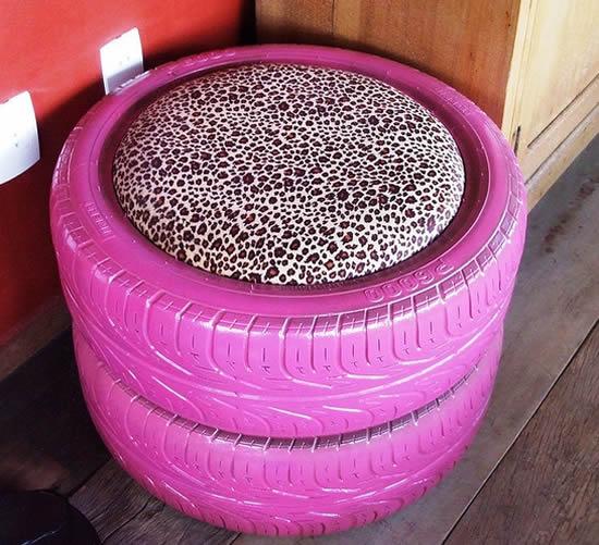 Lindas dicas com reciclagem de pneus