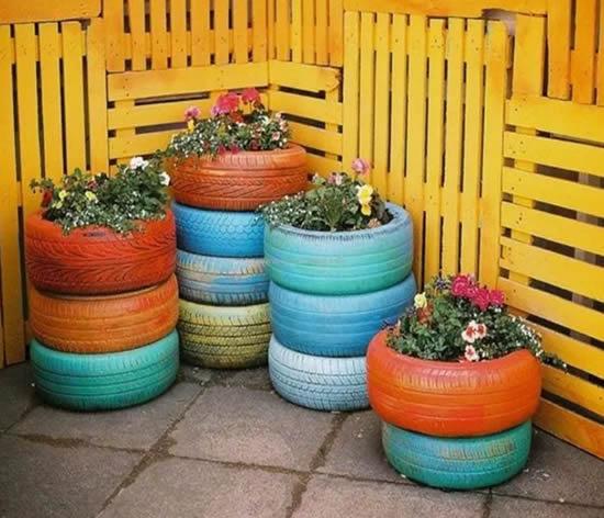 Dicas com pneus para decoração