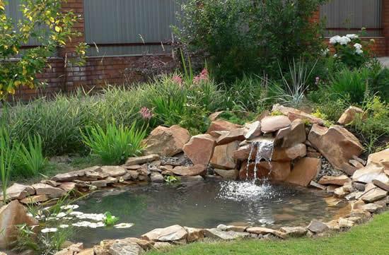 Lago no quintal de casa