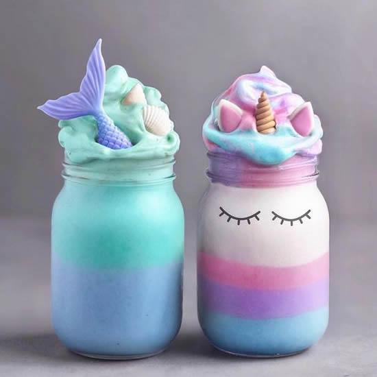 Lembrancinhas lindas com potes de vidro para Festa Unicórnio