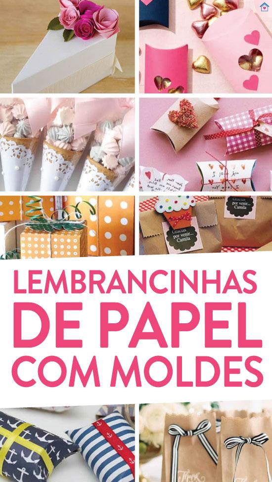 Lembrancinhas práticas com papel e moldes fáceis
