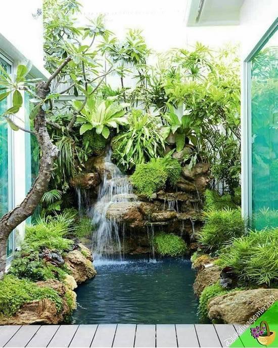 Lindo lago de jardim para casa