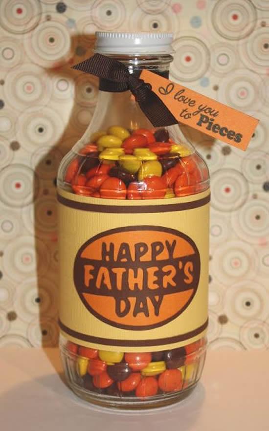 Lembrancinhas com potes de vidro para o Dia dos Pais