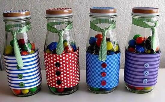 Mimos com potes de vidro para o Dia dos Pais