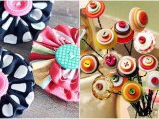 Artesanatos com botões de roupas