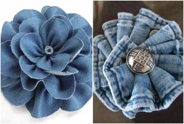10 ideias lindas de flores com tecido jeans