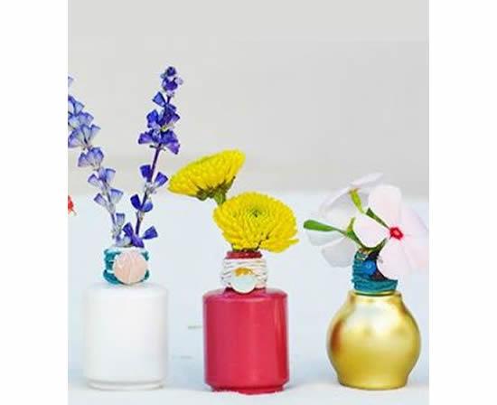 Ideias e artesanatos criativos com vidrinhos de esmaltes