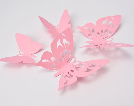 Decoração com borboletas de papel