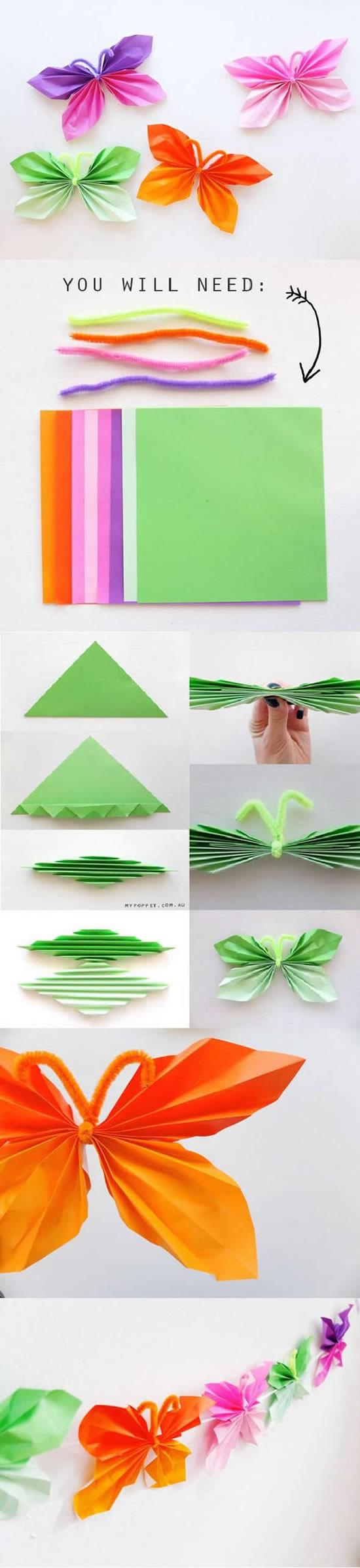 Dicas para fazer borboletas de papel