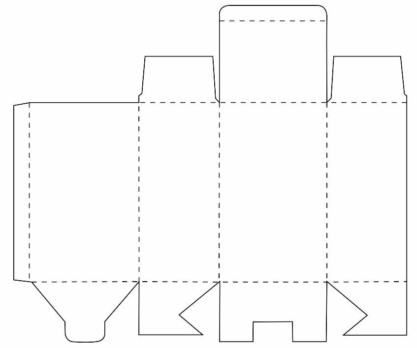 Molde de caixinha de leite de papel