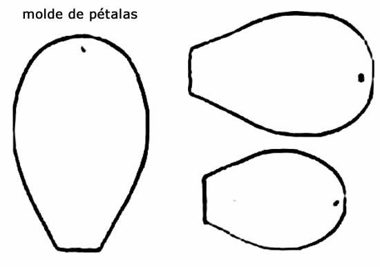 Molde de pétalas