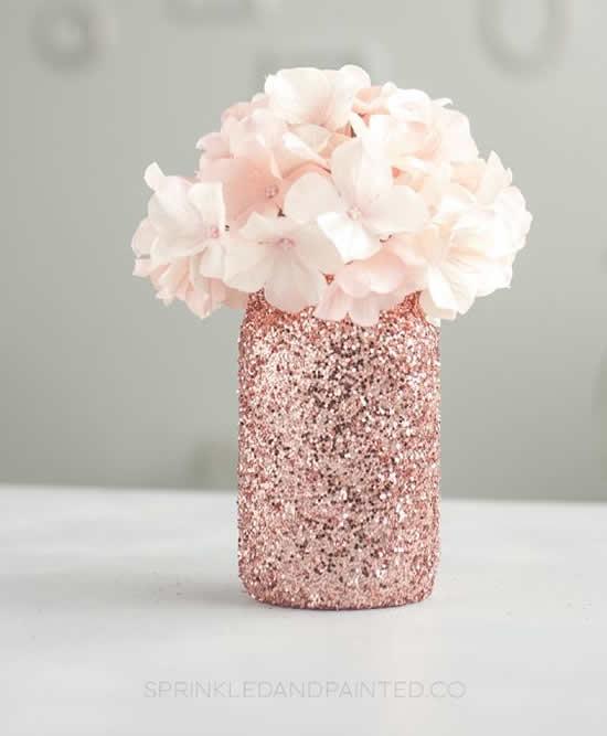 Reciclagem de potes para decoração