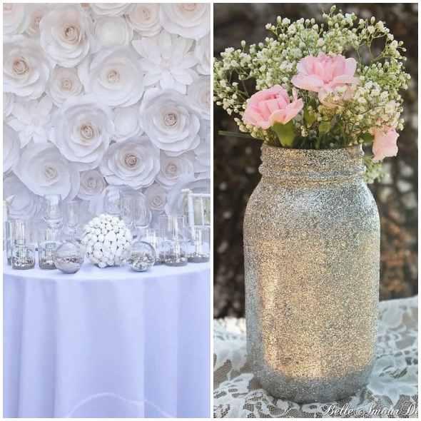 Decoração simples e bonita para casamento