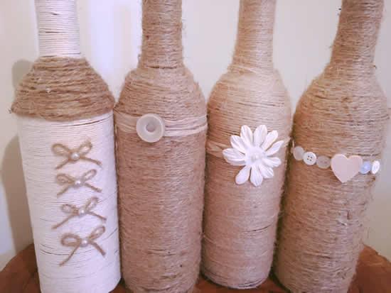 Lindas garrafas decoradas para inspiração