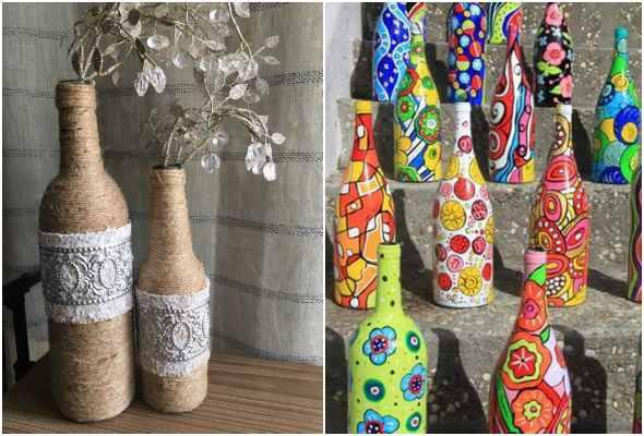 20 garrafas decoradas de maneira criativa