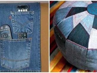 Lindos artesanatos com tecido jeans