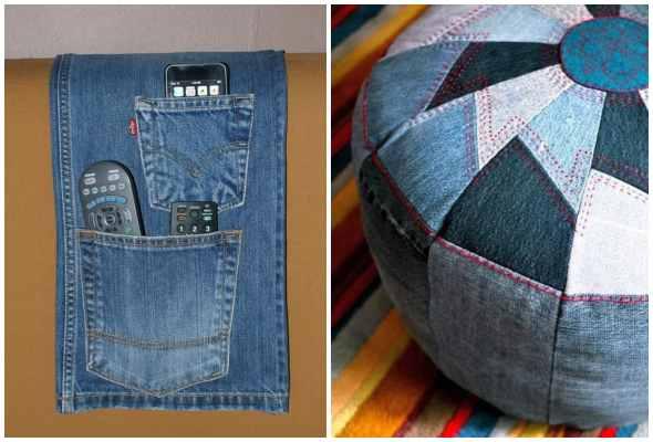 Artesanatos criativos com calças jeans