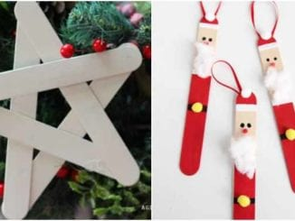 Artesanatos com palitos de picolé para o Natal