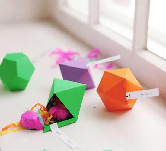 Faça lindas caixinhas geométricas