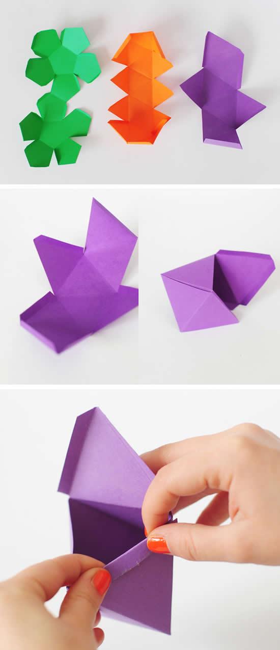 Aprenda como fazer caixinhas geométricas