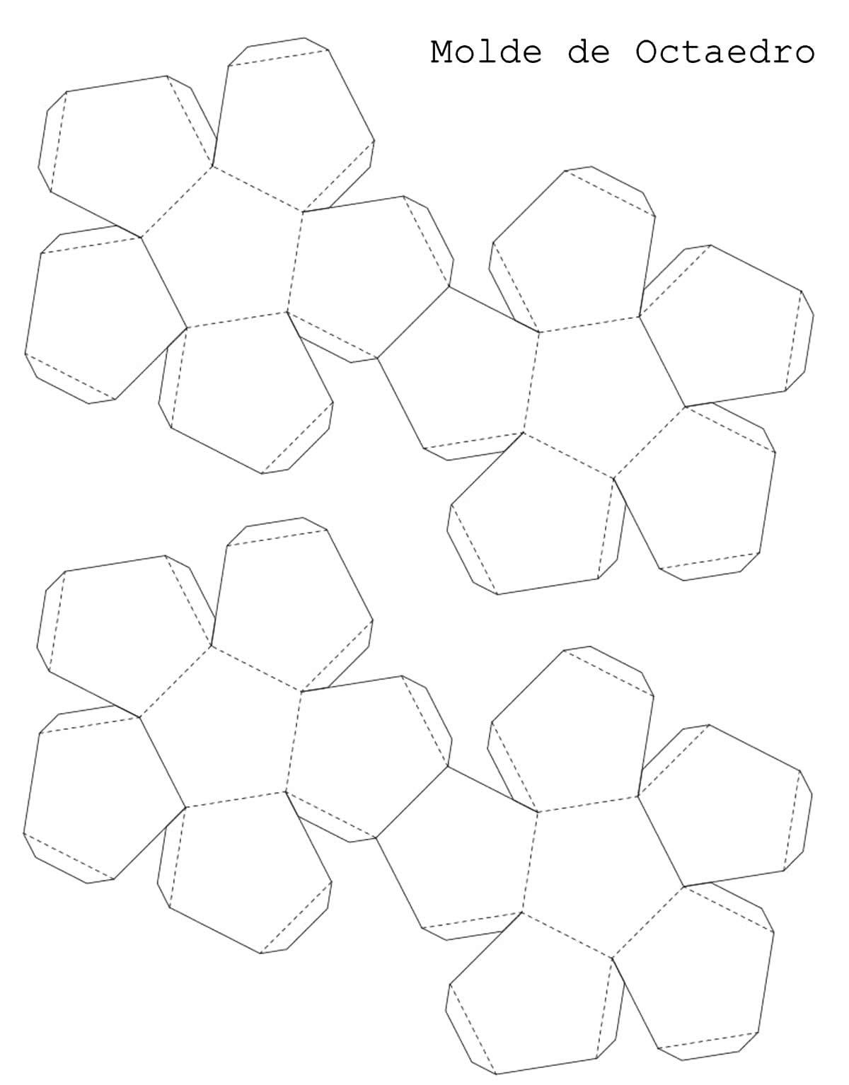 Moldes para caixinhas geométricas