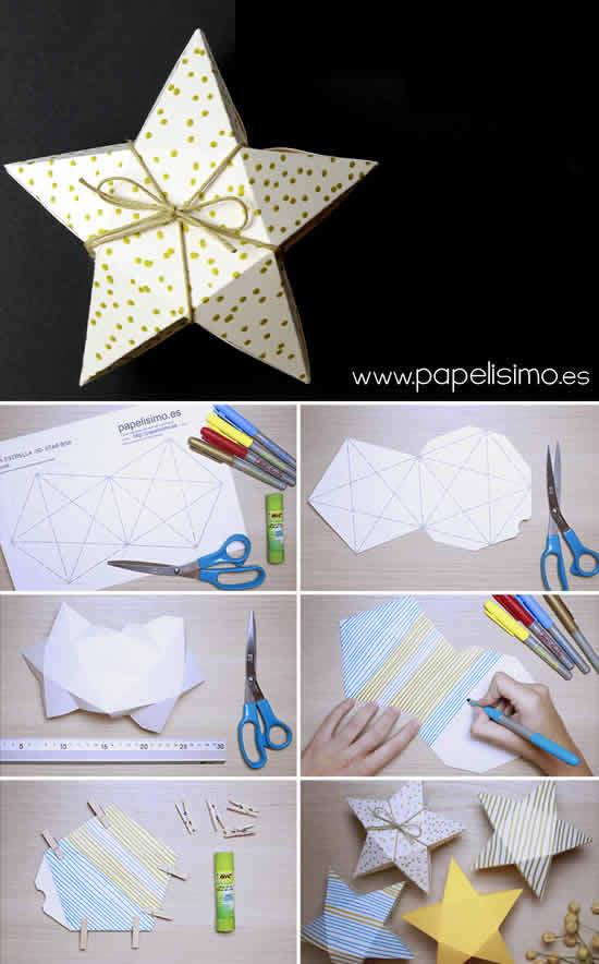 Caixinha estrela com molde