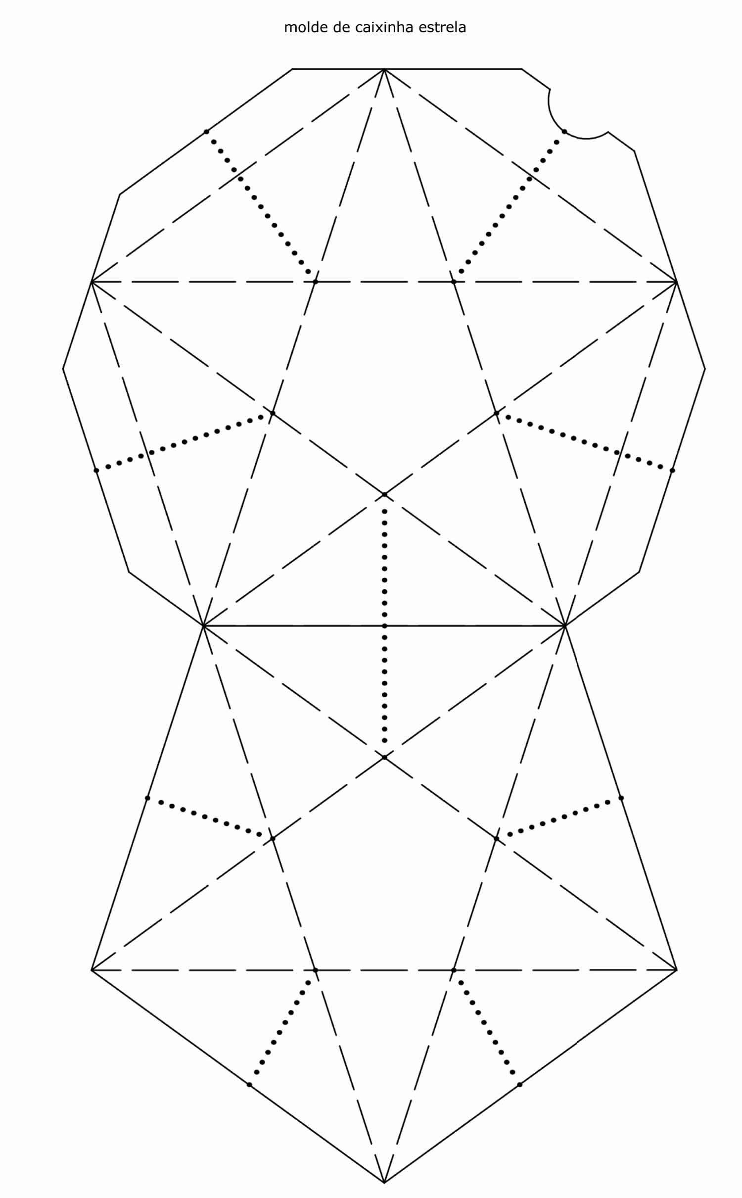 Molde de Caixinha Estrela