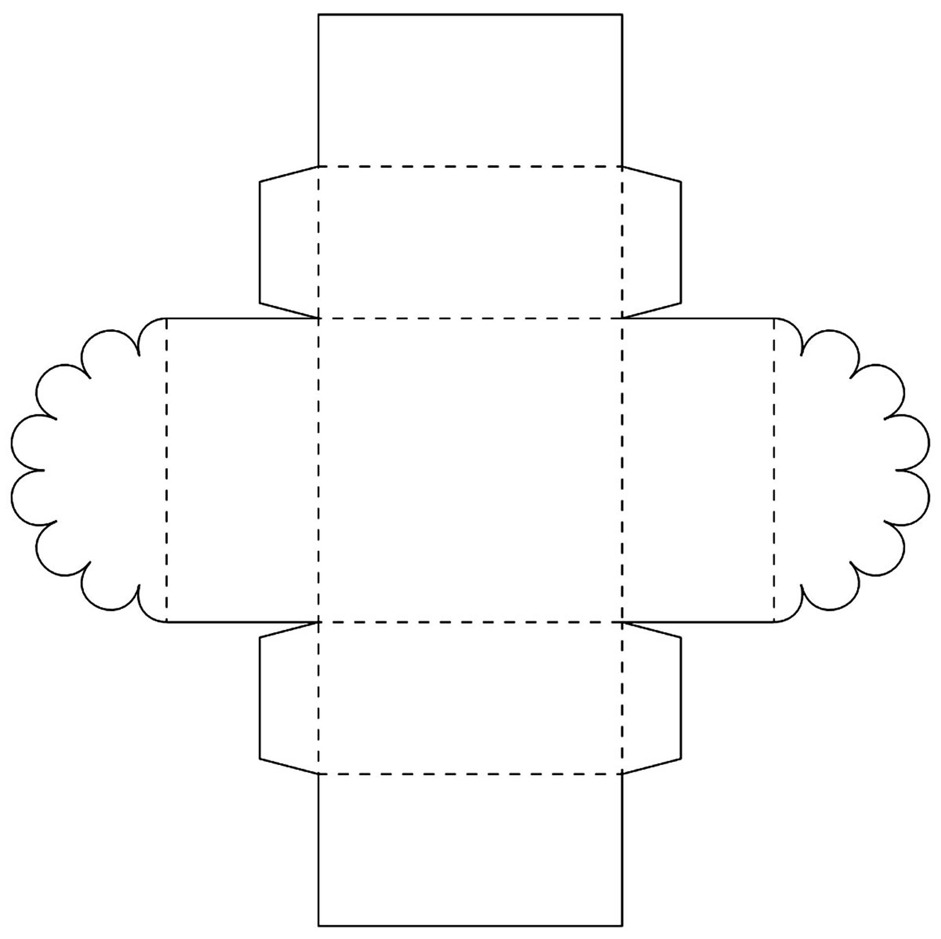 Molde para caixinha linda de papel