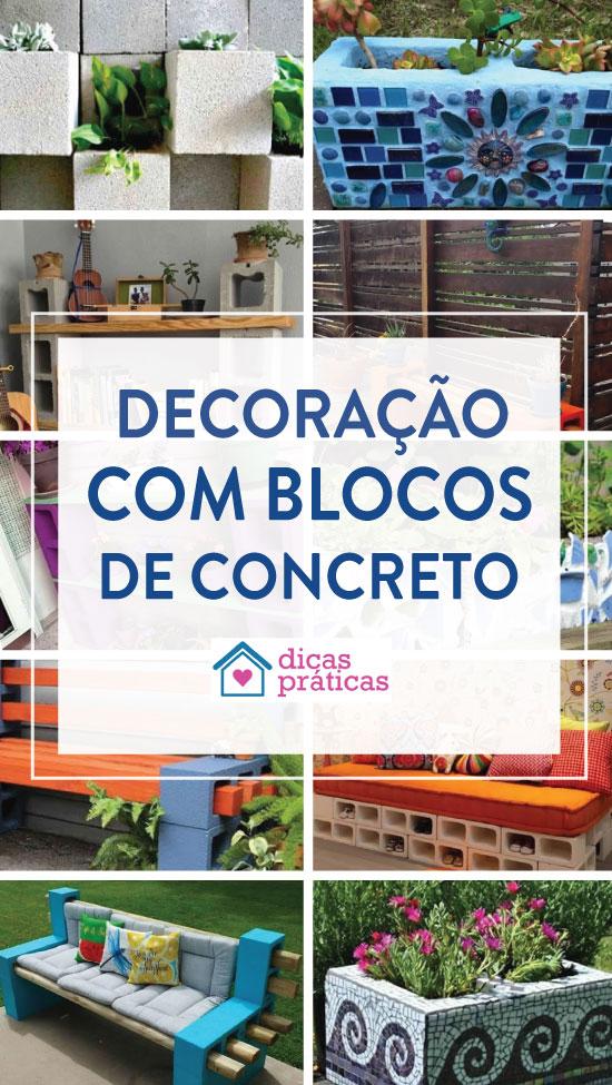 Decoração inusitada com blocos de concreto