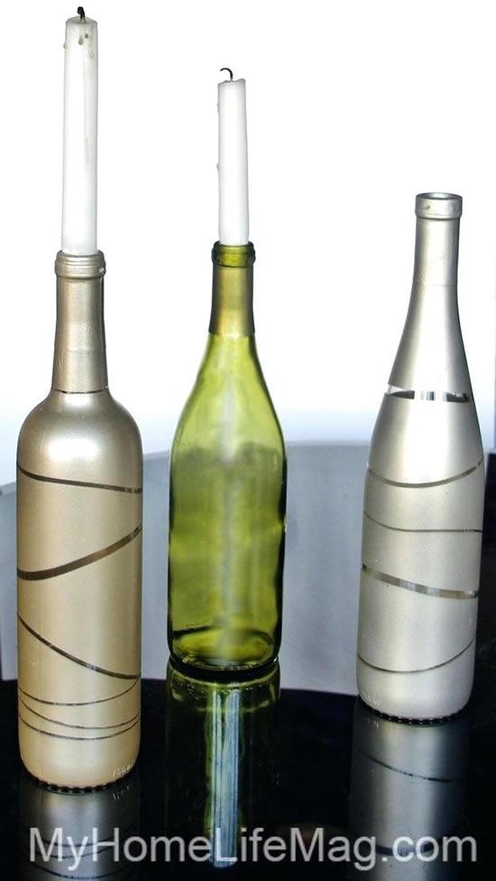 Decoração linda e criativa com garrafas