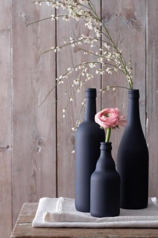 Decoração perfeita com garrafas