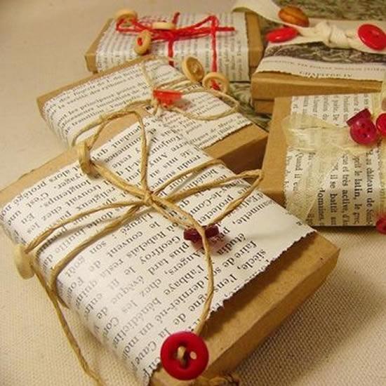Embalagem linda para presente de Natal