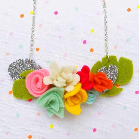 Flores de feltro para fazer enfeites, decorações e acessórios