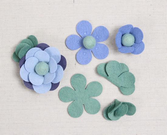 Faça flores de feltro decorativas