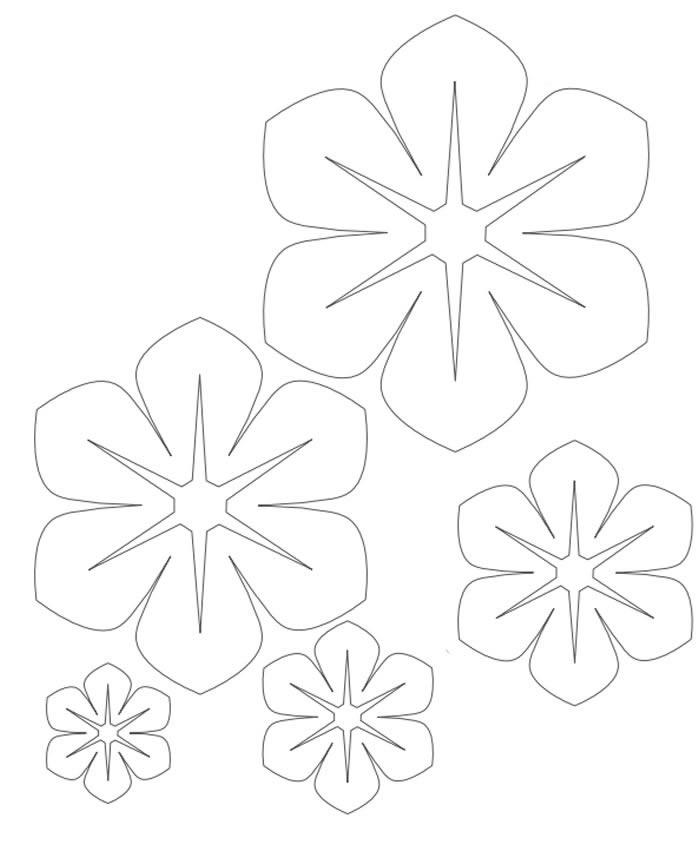 Moldes para flores de feltro